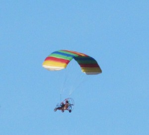 John in his powered parachute